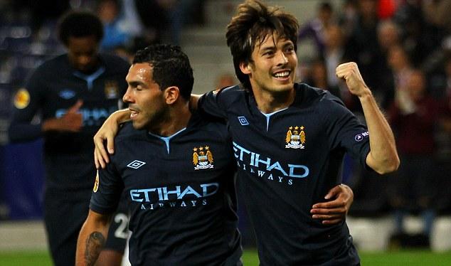 Manchester City news Silva+T%C3%A9vez